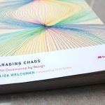Photograph of Lisa Welchman's book, Managing Chaos: Digital Governance by Design (New York: Rosenfield Media, 2015).